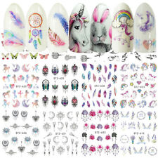 Nail Stickers Water Decals Transfers Unicorns Feathers Flamingos Butterflies