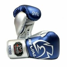 Rival Boxing Gloves RS100 Blue Silver Professional Sparring Training Workout