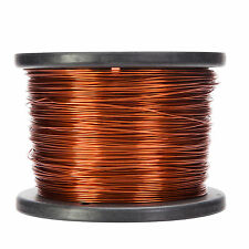 """18 AWG Gauge Enameled Copper Magnet Wire 5.0 lbs 996' Length 0.0428"""" 200C Nat"""