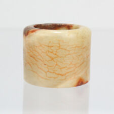 Old Or Antique Chinese Nephrite Russet Jade Archer's Ring #2 - VR