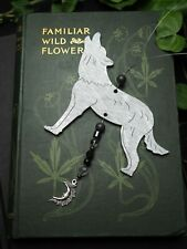 Silver Wolf Window Hanger  - Pagan, Wicca, Winter Solstice, Christmas, Yule Tree