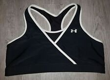 Under Armour Black and White Reversible Sports Bra Size Large Unlined Racerback