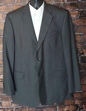 STAFFORD (44L) Gray/Green/Black Houndstooth 2 Btn WOOL Blazer Sport Coat Jacket