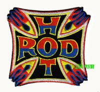 HOT ROD PATCH EMBROIDERED iron cross hot rodder vintage drag racing jacket suit