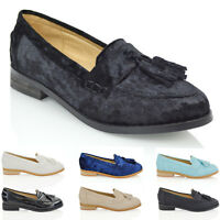 Womens Slip On Loafers Pumps Ladies Shoes Size 3-8