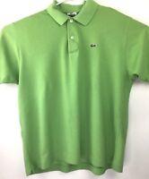 Mens Lacoste Green Polo Shirt / Alligator Logo Sz 6
