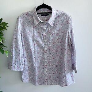 Sportscraft Liberty Women's Size 18 Long Sleeve Shirt Blouse Floral Pattern