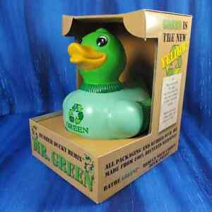 Mr. Green CelebriDuck Rubber Duck Recycled Earth Friendly NIB