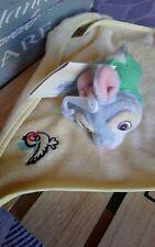 Doudou plat lapin Panpan et ses amis oiseau feuille hyper doux Disneyland