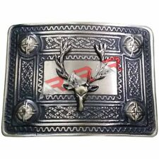AAR Men's Kilt Belt Buckle Stag Head Antique Finish/Stag Head Kilt Belt Buckles