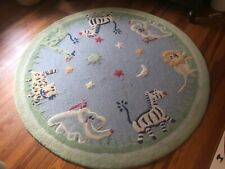 Pottery Barn Kids 5' round animals rug