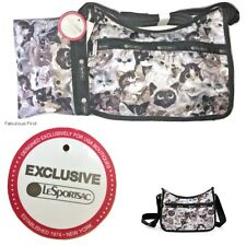 LeSportsac Cat Noir Exclusive Classic Hobo Crossbody + Cosmetic Bag Free Ship