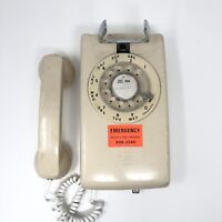 Vintage Western Electric BELL System TELEPHONE Tan Wall ROTARY DIAL Phone