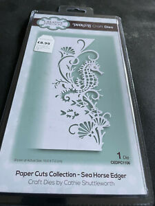 CREATIVE EXPRESSIONS PAPER CUTS SEA HORSE EDGER CUTTING DIE - New low price!!!!