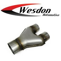 3.00 Inlet 2.25 Inch Outlet 10.00 Inch OAL Length Stamped Steel Exhaust Y Pipe