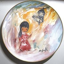 """DEGRAZIA """"BELL OF HOPE"""" PLATE HAND AUTOGRAPHED & DATED"""