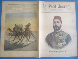 Le Petit Journal 23 Janvier 1892 N°61 Tewfik-Pacha / Khartoum prisonniers Mahdi