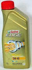 CASTROL Edge 5w-40 BENZINA/DIESEL OLIO MOTORE COMPLETAMENTE SINTETICO - 1 LITRI