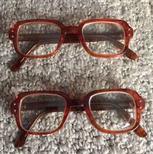 Vintage 2 Pair Of 1960'S Romco Military Issue Prescription Glasses Amber