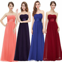 Ever-pretty Long Strapless Bridesmaid Party Dress Formal Evening Prom Gown 09955
