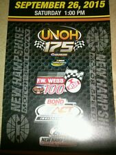 NASCAR CAMPING WORLD TRUCK SERIES 500TH RACE 9/26/15 NEW HAMPSHIRE TICKET STUB
