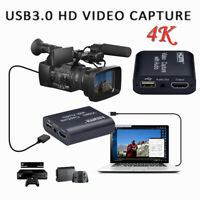 1080P Video Capture Card 4K HDMI USB 2.0 HD for Live Streaming Recorder Grabber