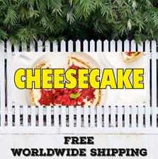 Banner Vinyl Cheesecake Advertising Sign Flag Bakery Crust Cream Cheese Cake