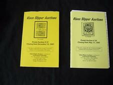 2 Glass Slipper Postal Auction Catalogues Of Cinderella Philately 1997 May & Dec