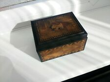 Antique Japanese Marquetry Spring Loaded Puzzle Money box ( Karakuri )