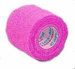 "Andover COFLEX-Vet 2"" Neon Pink Bandaging Tape Flexible Wrap Equine Small Animal"