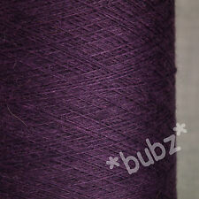 STUNNING CAMEL SILK YARN SUPER FINE 2/52 COBWEB 250g CONE 0 PLY LACE DEEP PURPLE