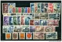 FRANCE STAMP ANNEE COMPLETE 1955 TIMBRES OBLITERES TB, VALEUR: 223€.