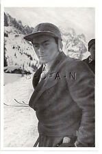 WWII GERMAN- Large 1936 OLYMPIC Sports Photo Image- Slalom- Guzzi Lantschner