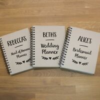 Personalised Wedding Planners - Bridesmaid, Maid of Honour, Bride | A5 lined