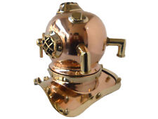 DIVING HELMET REPRODUCTION MARK IV VINTAGE SOLID BRASS NAUTICAL DEEP SEA MINI
