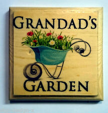 Grandads Garden - Plaque / Sign / Gift - Gardening Dad Plants Shed Workshop Sml