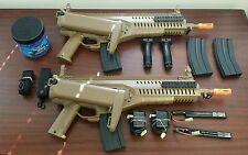 Refurb Beretta ARX airsoft AEG kit x 2. 2 tan ARX, 2 slings, 5k bbs, 4 mags...