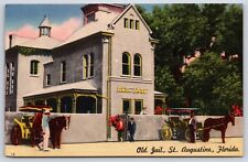 The Old Jail in St. Augustine, Florida Williams Street Linen Postcard Unused