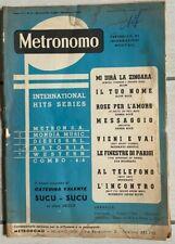 SPARTITO MUSICALE DA COLLEZIONE 1960 METRONOMO CATERINA VALENTE SUCU SUCU