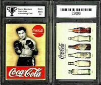 Rocky Marciano Coca Cola ACEO Ad Promo Boxing Card Graded 10 Gem Mint
