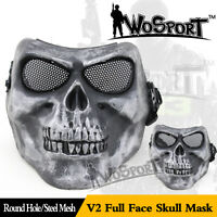 Halloween Tactical Paintball Airsoft CS Hunting Protective Full Face Skull Mask