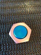 "Mini / Micro Fidget Spinner In Aluminum ""HEX"" In OCEAN BLUE & PRECIOUS PINK"