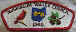 BG10967 - PATCH MUSKINGUM VALLEY COUNCIL OHIO - BOYS SCOUTS