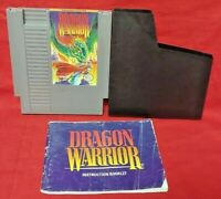Dragon Warrior - Nintendo NES Game, Manual Dust Cover Rare Tested Authentic