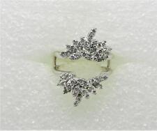 VINTAGE 14K WHITE GOLD DIAMOND RING GUARD - LB2779