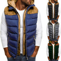 HOT Men's  Quilted Vest Body Warmer Warm Sleeveless Padded Jacket Coat UK