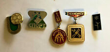 Vintage USSR Sports Pins - Lot of 5 Different From the 1970's