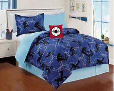 BICYCLE SPORTS KIDS BOYS COMFORTER SET 4 PCS TWIN SIZE