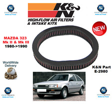 FOR MAZDA 323 Mk II III K&N HIGH FLOW AIR FILTER 1980->1990 ORIGINAL K&N BOXED
