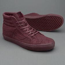 Vans SK8 Hi Reissue DX Reptile Burgundy Men's Classic Skate Shoes Size 12